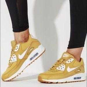 Nike Shoes | Nwt Air Max 90 Rare Wheat Gold | Poshmark